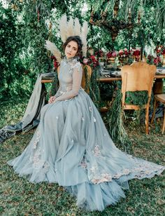 Our Favorite Wedding Dresses with a Pop of Color! - Green Wedding Shoes Our Favorite Wedding Dresses with a Pop of Color! – Light Blue Wedding Dress Source by gws Light Blue Wedding Dress, Green Wedding Dresses, Green Wedding Shoes, Wedding Bridesmaid Dresses, Different Color Wedding Dresses, Elf Wedding Dress, Colored Wedding Gowns, Dusty Blue Dress, Pale Blue Dresses