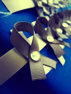 Homemade hair clips in support of brain cancer with The Diary of a Real Housewife.  Neat fundraiser idea.