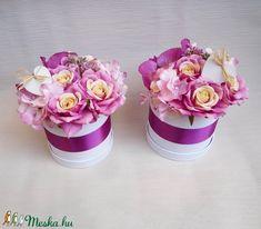 Orchideás szülőköszöntő virág doboz (Decoflor) - Meska.hu Crown, Jewelry, Corona, Jewlery, Jewerly, Schmuck, Jewels, Jewelery, Crowns