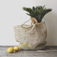 Hand Woven Jute Macrame Market Bag Natural - The Future Kept - 2