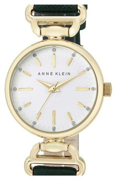 Anne Klein Leather Strap Watch, 28mm available at #Nordstrom