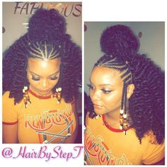 Naturel Hair Care : Rod twists and cornrows- New Page! Hair by Step T.✨ ( on Instagr Naturel Hair Care : Rod twists and cornrows- New Page! Hair by Step T. ( on Instagr. Curly Crochet Hair Styles, Crochet Braids Hairstyles, African Braids Hairstyles, Protective Hairstyles, Ponytail Hairstyles, Weave Hairstyles, Curly Hair Styles, Natural Hair Styles, Black Hairstyles Crochet