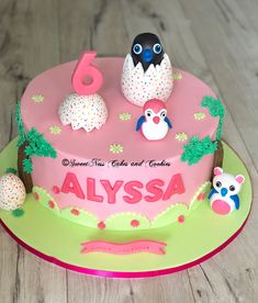 Its a Hatchimal cake. Happy 6th Birthday Alyssa. We love to make all of the Hatchimals for your cake to share with all of your friends. #SweetNessCakesandCookies #cake #cakes #cakeart #cakelove #cakeboss #cakedecorating #cakedecor #cakedesign #cakedesigner #cakedecorator #caked #cakestagram #cakesofinstagram #sydney #cookies #hatchimals #hatchimal #birthday #6thbirthday #birthdaygirl #whitemud #chocolatemudcake #party