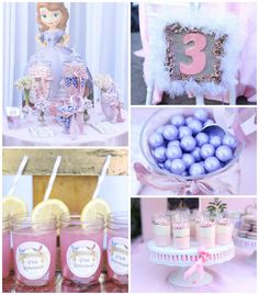 Sofia the First's Royal Celebration with SO MANY CUTE IDEAS via Kara's Party Ideas | Cake, decor, cupcakes, games and more! KarasPartyIdeas....
