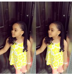 Kids Hairstyles - Cute & Trendy Cornrow Styles For Lil Divas - Wedding Digest NaijaWedding Digest Naija Little Girl Braids, Black Girl Braids, Braids For Kids, Braids For Black Hair, Girls Braids, Kid Braids, Kids Curly Hairstyles, Baby Girl Hairstyles, African Braids Hairstyles