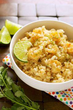 Crockpot Chili Lime Shrimp and Rice Bowls