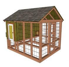 This is a downloadable PDF file sent automatically by etsy after purchase. This plans are made for US measurement units including links for buyable parts of construction such as windows and other. Included: -> 33 pages 8x10'' Chicken Coop Plans; -> Tool list; -> Material list & Cut list; -> Step by Step Assembly Instructions with 3D pictures and guidelines;
