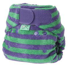 Tots Bots Thistle - Pañal lavable elástico, color morado y verde
