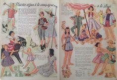 Modèle Enfant -Juillet 1954- Le Petit Écho de la Mode