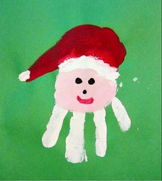 Handprint Santa!