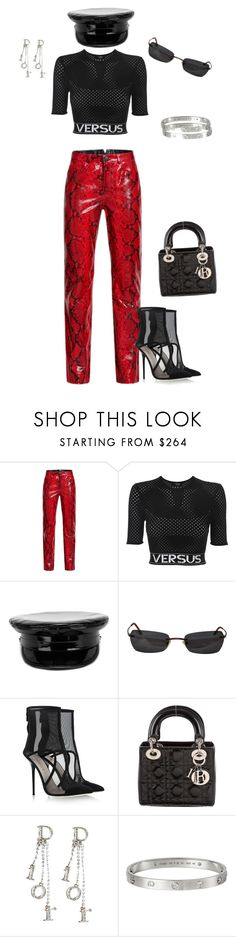 """Untitled #668"" by northwood ❤ liked on Polyvore featuring H&M, Versus, Manokhi, Kenzo, Giannico, Christian Dior and Cartier"