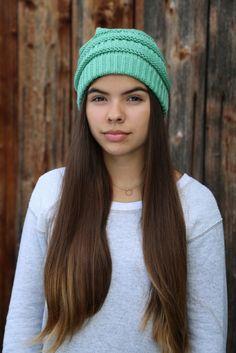 Bad Hair Day | Strickmütze in seegrün