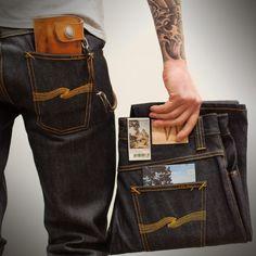 CULTIZM - Carefully selected menswear since Shop over 100 brands in our online shop. Nude Jeans, All Jeans, Denim Jeans Men, Edwin Jeans, Estilo Denim, Expensive Clothes, Denim Branding, Raw Denim, Men Style Tips