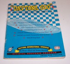 Vintage Daytona 500 Program Book 1961 3rd Annual Nascar Race Drag Racing Car