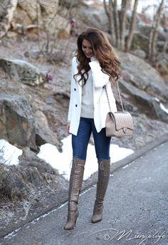 Instagram: @mungoanna / Details: http://www.mungolife.fi / White blazer, Joie boots, Chanel flap bag, 2.55