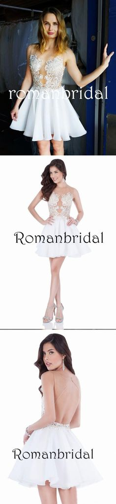Amazing Chic Sexy Homecoming Dress Appliques Chiffon Short Prom Dress Party Dress, Homecoming Dresses, HD0314