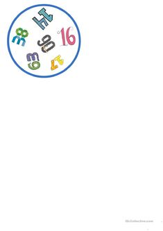 One-click print document Handout, Idioms, Smurfs, Games, Multiplication, Names, Mathematical Practices, Cotton, Secondary School