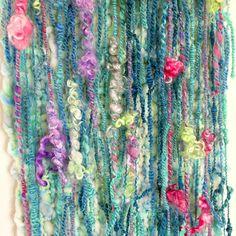 Wool wall hanging Art Yarn large woven tapestry Macrame Modern