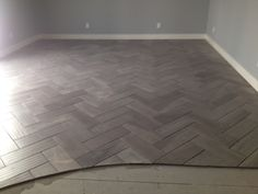 Porcelain Wood Tile.....love what they did with it!
