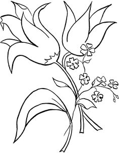 Printable Flower Coloring Pages #2476   Pics to Color