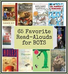 65 favorite read-aloud books for boys! Great books to read aloud with little boys. Kids Reading, Teaching Reading, Reading Resources, Reading Lists, Reading Books, Books For Boys, Childrens Books, Toddler Books, Great Books