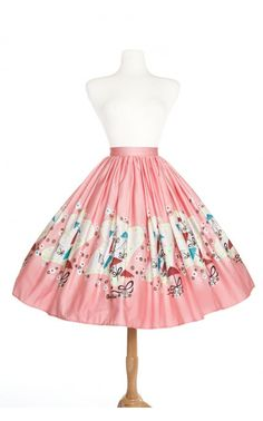 Pinup Couture- Jenny Skirt in Mary Blair Umbrellas Print | Pinup Girl Clothing