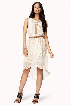 Meadow Tulip Dress w/ Belt | FOREVER21 - 2000051154. I love the design and cut of this dress!