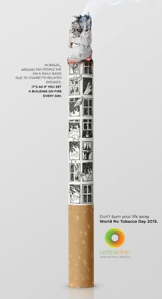 Healthcare Advertising : cigarro Healthcare Advertising Campaign cigarro Advertisement Description cigarro Don't forget to share the inspiration ! Creative Advertising, Advertising Poster, Advertising Campaign, Advertising Design, Marketing And Advertising, Ad Design, Graphic Design, World No Tobacco Day, Guerilla Marketing
