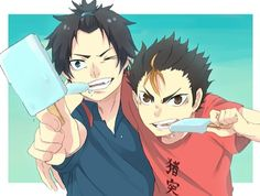 Rin & Nishinoya - Haha. The cuties. :)
