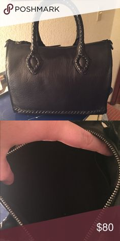 NWOT Lucky brand satchel Great bag from Lucky Brand! The leather is super soft and great quality. Comes with the original dust bag and crossbody strap with gunmetal hardware Lucky Brand Bags
