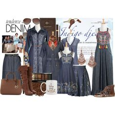 Denim Dash by eshakti on Polyvore featuring Forever 21, Charlotte Russe, MICHAEL Michael Kors, 1928, FOSSIL, Gottex, Tom Ford, Crate and Barrel, Boohoo and Illamasqua