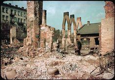 Warszawa, Radzymińska róg Folwarcznej. Fot. - Hugo Jeager, osobisty fotograf Adolfa Hitlera