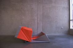 Compact Origami Sofa by Yumi Yoshida