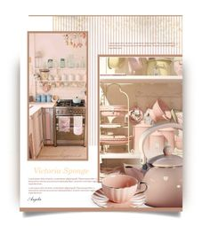 """Miss Victoria Sponge"" by anjelakewell ❤ liked on Polyvore featuring interior, interiors, interior design, home, home decor, interior decorating, Laura Ashley, Reston Lloyd, pastels and colorchallenge"