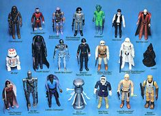 Insert from vintage Star Wars action figure case.