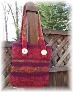 Beautiful Wool Felted Purse with inner pockets by OnAWhimInc on Etsy #gift #purse #bag