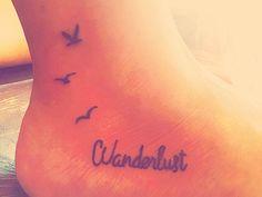 Tattoo, small, wanderlust, tiny, travel