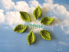 Crochet Leaves. $1.50, via Etsy.