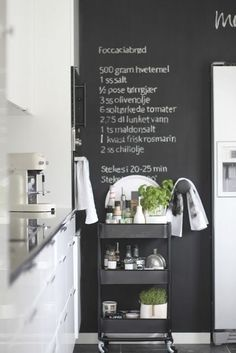 **kitchen** chalkboard paint This Kitchen Cart Is The Only Ikea Item You Really Need
