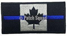Patch Squad Men's Canadian Flag Maple Leaf Thin Blue Line Patch