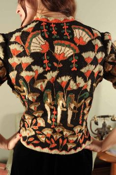 Pharaoh's Gal... A 1920s 30s EGYPTIAN REVIVAL Art Deco All Hand Made Sweater