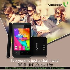 With #Videocon Infinium Zest Lite, everyone is just a chat away. Know more about it here - http://www.videoconmobiles.com/zest-lite