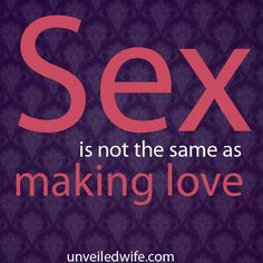 Why Making Love Is Not The Same As Having Sex --- I am so honored to welcome guest contributor Sheila Wray Gregoire from To Love, Honor And Vacuum! Sheila has a candid way of talking about one of the most important areas of marriage: Sex and Intimacy. I hope that this article helps you … Read More Here http://unveiledwife.com/why-making-love-is-not-the-same-as-having-sex/