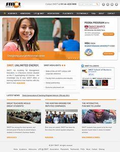 Website Design for SMOT School of Business. View more website design samples at http://www.niyati.com/website-portfolio