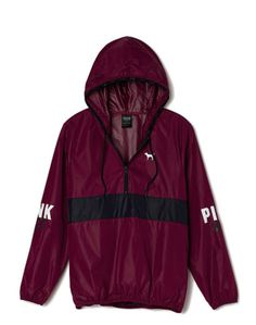 Victorias Secret PINK Anorak Pullover Hoodie Windbreaker Jacket Maroon XS/Sm NEW in Clothing, Shoes & Accessories, Women's Clothing, Coats & Jackets | eBay