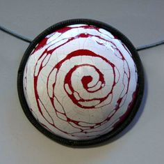 White liquid enamel over prefired red-Kristina Glick