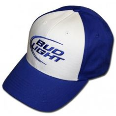 240491ad917 Bud Light Classic Logo Hat. Blue And White Hats