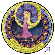 Stained Glass Rapunzel by ~Akili-Amethyst on deviantART