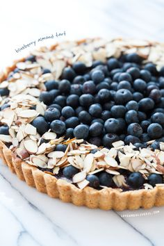 Blueberry Almond Tart from www.loveandoliveoil.com