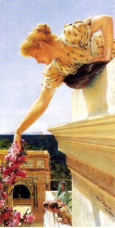 Godspeed by Sir Lawrence Alma-Tadema, peinture très lumineuse, qui apporte chaleur et repos.
